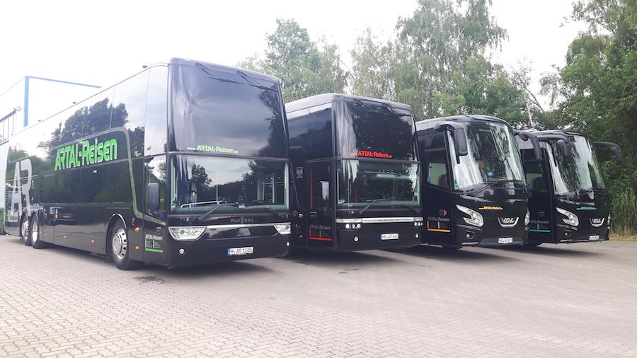 Bus Fuhrpark von Artal-Reisen